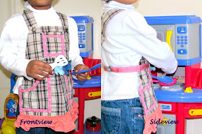 No sew apron from shortalls