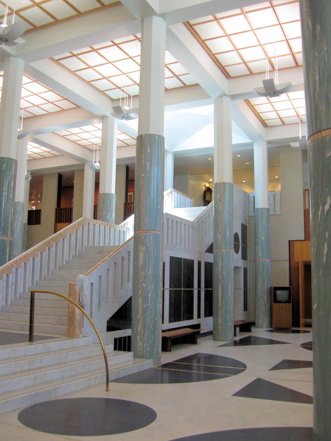 Parliament House Marble Foyer : Canberra parliament house our walks