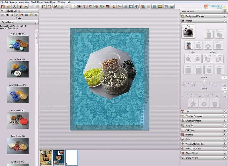 Using MyMemories Digital Scrapbooking Suite for Jewelry Collage