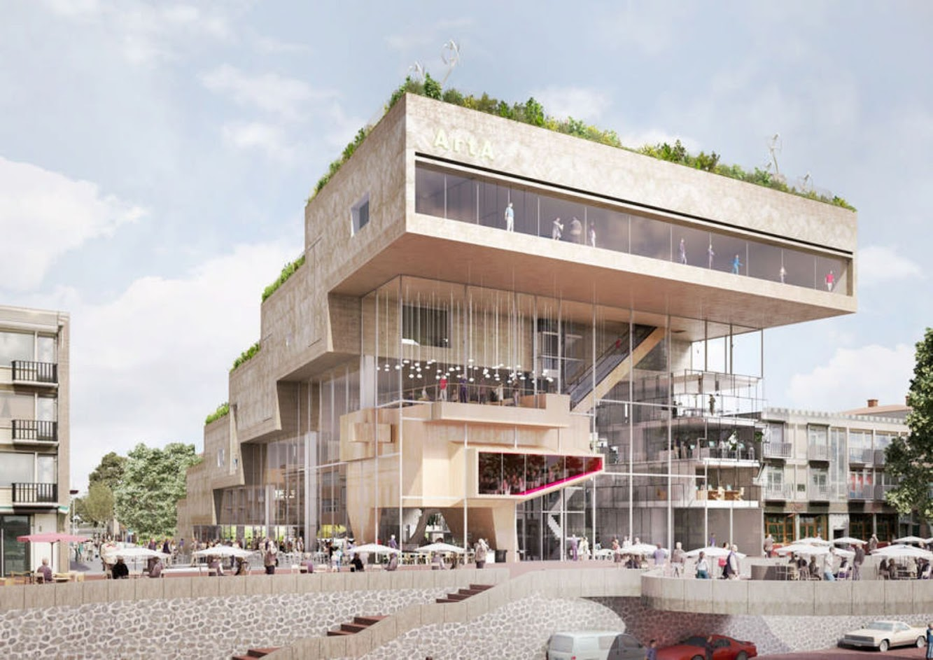 "Arnhem, Paesi Bassi: Nl Architects Shortlisted Proposal ""ARTA"" Competition"