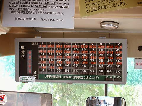 阿寒バス「釧路羅臼線」・・16 運賃表 その2
