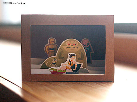 Star Wars Papercraft Jabba's Palace Diorama Box