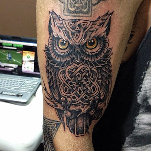 Celtic Owl Tattoo