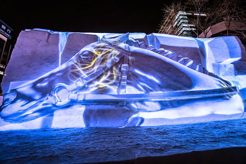 さっぽろ雪まつり サラブレッドの息吹 写真2
