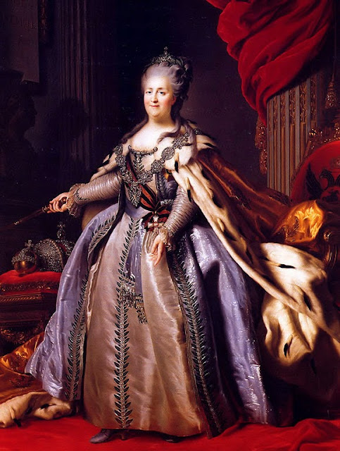 Alexander Roslin - Portrait of Catherine II of Russia (1729-1796)