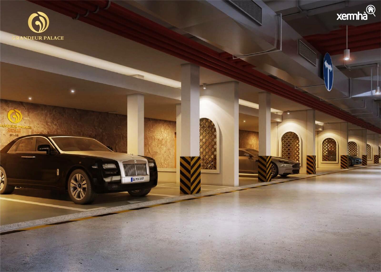 Hầm đỗ xe dự án Grandeur Giảng Võ
