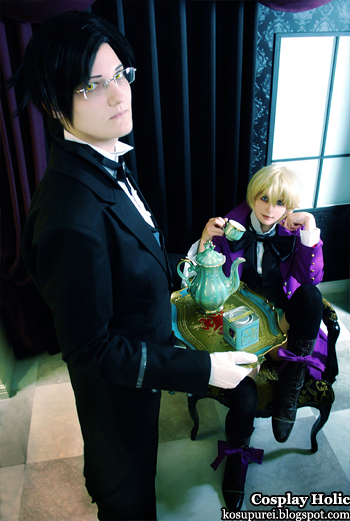 kuroshitsuji ii cosplay - calude fautus and alois trancy by neko16 and juunana