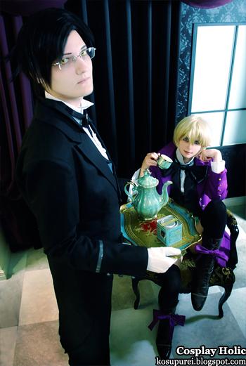 kuroshitsuji ii cosplay - calude fautus and alois trancy by neko16 and juunana