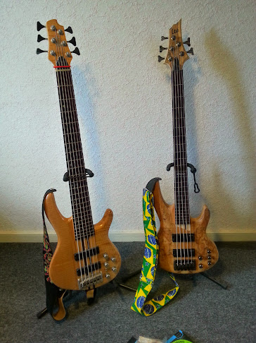 Tomkat s Cort A6 artisan and LTD B-205 SM FL Fretless