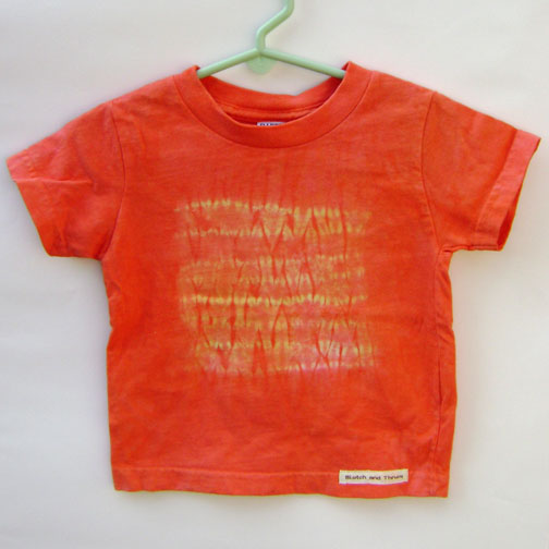 overdyed red shirt