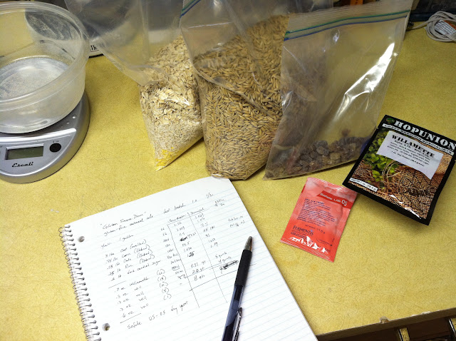 recipe and ingredients for oatmeal ale