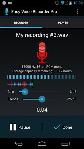 Easy Voice Recorder Pro v1.7.5.a