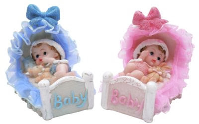 Para niños azul y para niñas color rosa