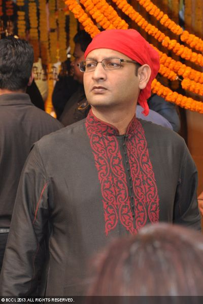 Sreekant Mohota during the wedding ceremony of Koel Mallick and Nispal Singh Rane, held at Rashbehari Gurdwara in Kolkata.