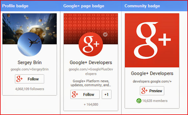 Wordpress Google Plus Badge Widget