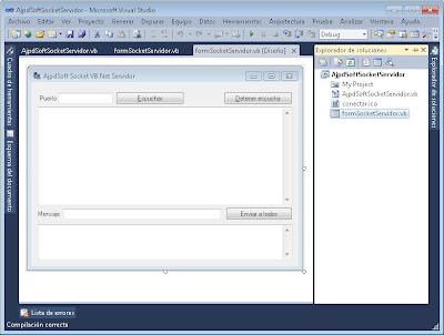 Aplicación servidor para conexión por socket con Visual Basic .Net