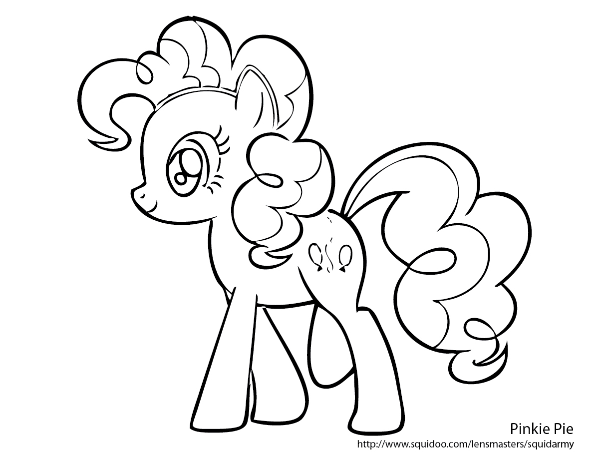 Pinkie pie my little pony coloring pages for Pinkie pie coloring page