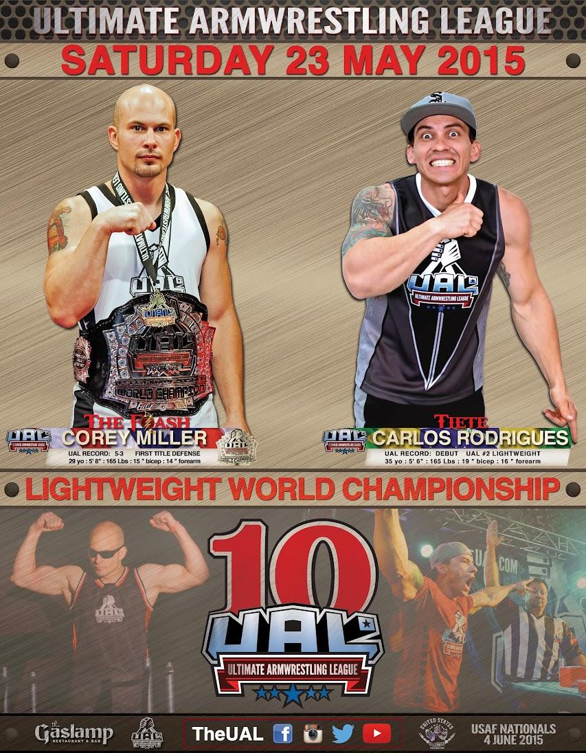 Corey Miller vs. Eduardo Tietê / Carlos Rodrigues, UAL 10 - GASLAMP LONG BEACH CA, 23 May 2015 │ Image Source: theual.com