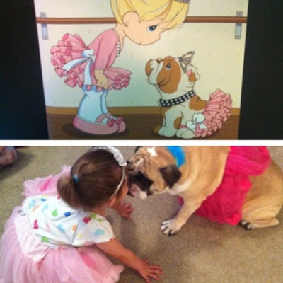 Little Girls and Bulldogs are the cutest! www.thebrighterwriter.blogspot.com