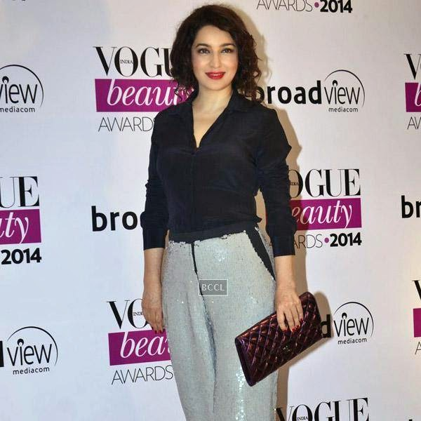 Tisca Chopra attends Vogue Beauty Awards 2014, held at Hotel Taj Lands End in Mumbai, on July 22, 2014.(Pic: Viral Bhayani)