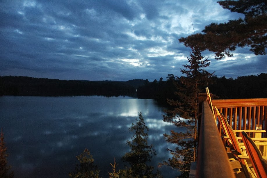 Lac Papineau Night Deck View