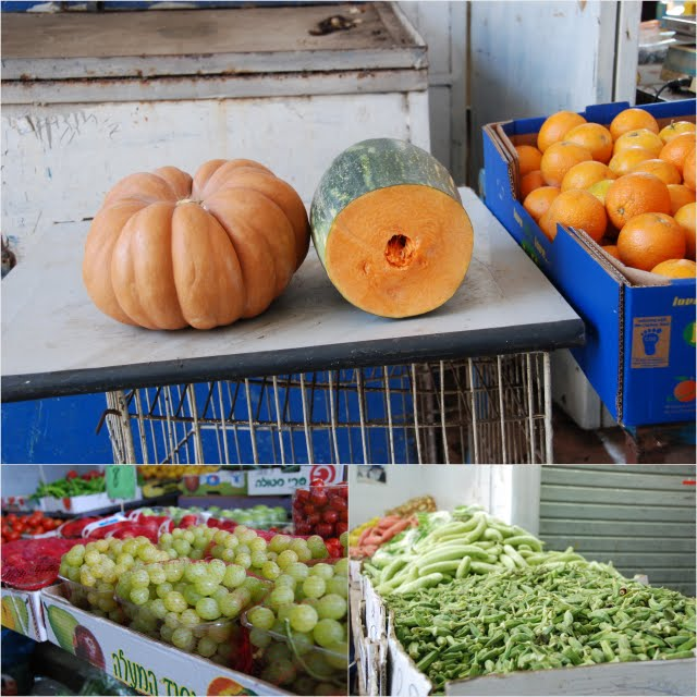 tiberias market, fresh fruits