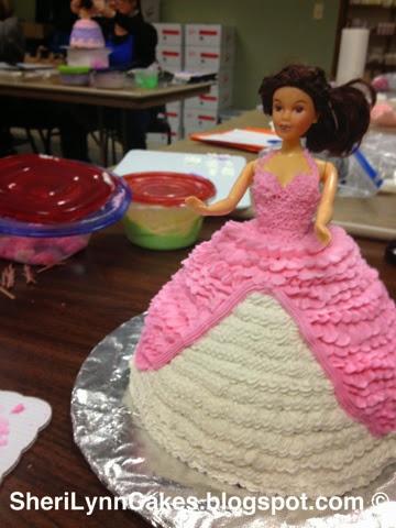 Sheri Lynns Cakes Doll Dress Cake 1