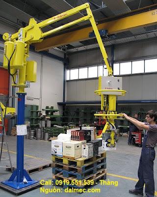 Cánh tay robot Dalmec Italy nâng thùng - hộp