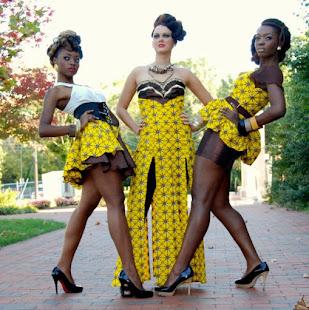 ankara designs, yellow