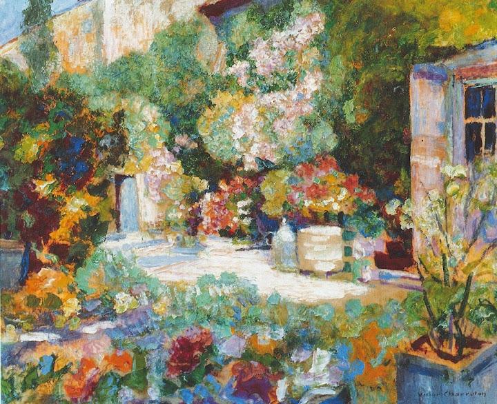 Victor Charreton - Jardin à Pau