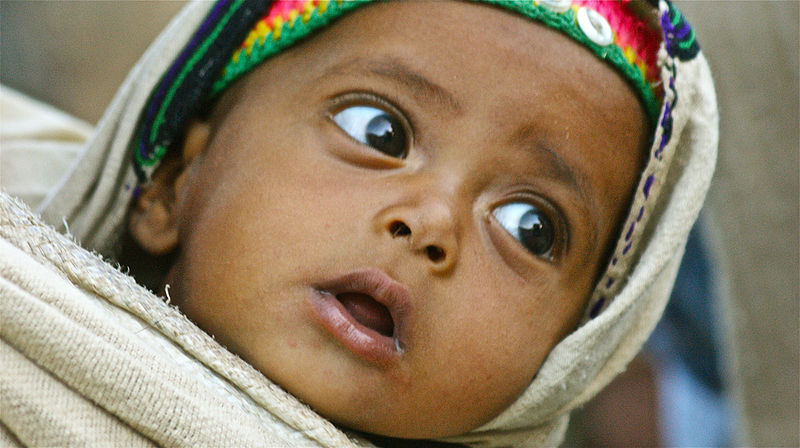 A Habesha baby in the northern Tigray Region of Ethiopia