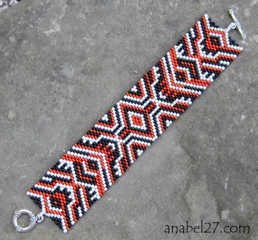 peyote bracelet beadwork cuff jewelry