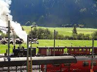 Train à vapeur à Oberwald