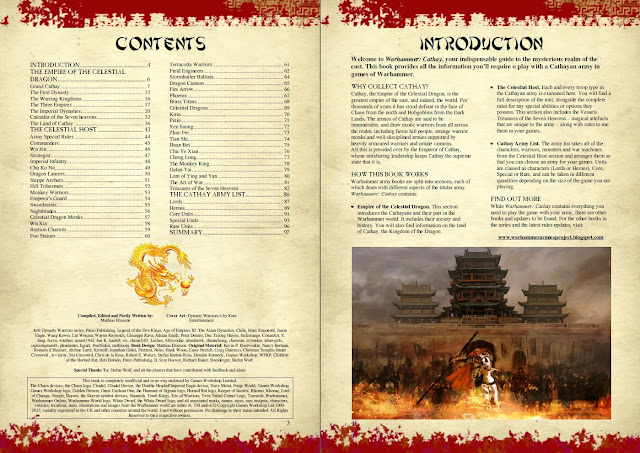 Warhammer Fantasy Cathay Army Book contents