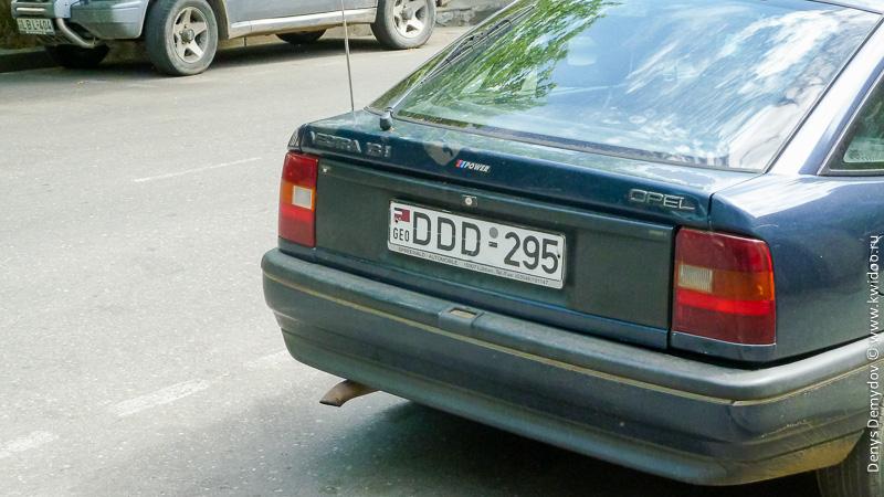 Старые автомобильные номера Грузии