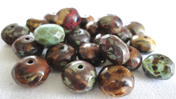 Picasso Gemstone Donut Bead Mix