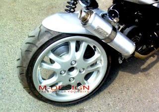 Modifikasi Motor Vario Techno Velg 17