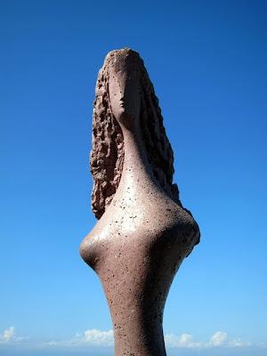 Carioca sculpture on top of Sugar Loaf Mountain in Rio de Janeiro Brazil
