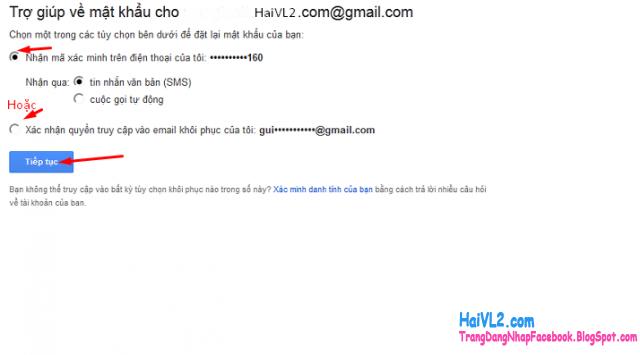 khôi phục tài khoản gmail bằng email dự phòng