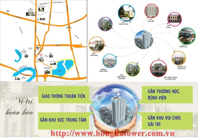 Vị trí Hồng Hà Tower
