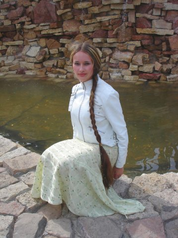 lady with long braid