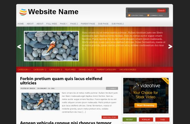 Colorful Business Jquery Wordpress Theme Template