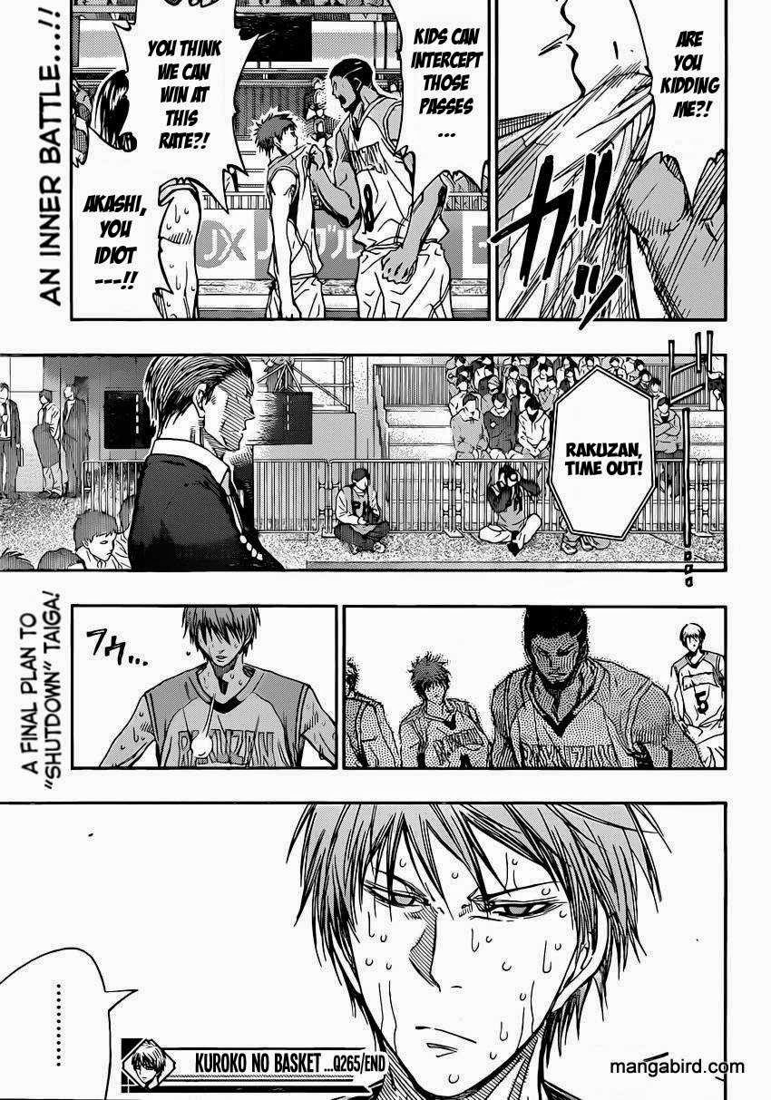 Kuroko no Basket Manga Chapter 265 - Image 19