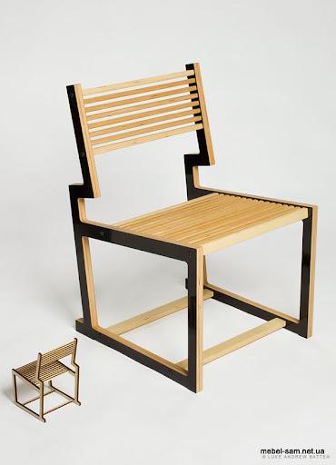 Фанерный стул и его прототип