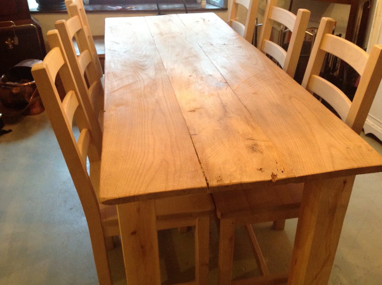 Hand Made Elm Table £345