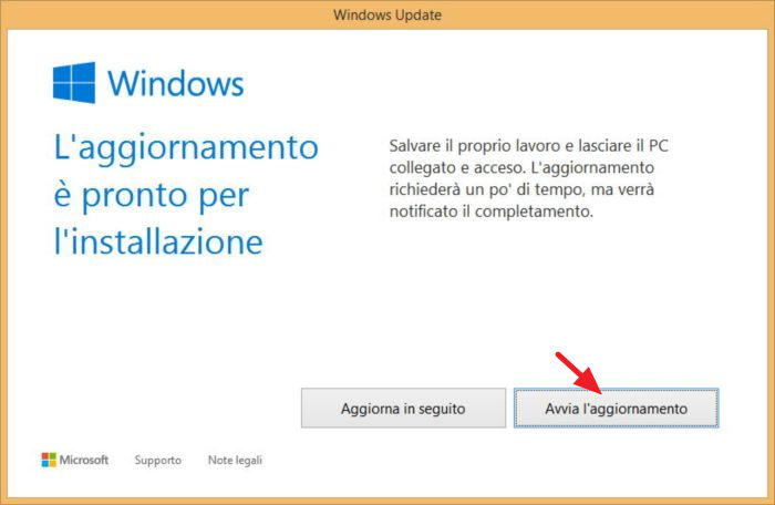 Come fare per aggiornare il Pc a Windows 10