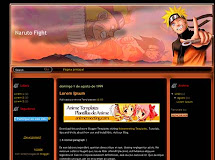"Naruto Fight ""Plantilla de Anime para Blogger"""
