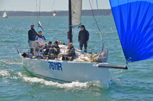 J/111 one-design sailboat- sailing Solent Warsash Spring series