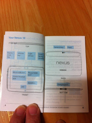 Nexus10のQuick Start Guide:Seeko.co.kr