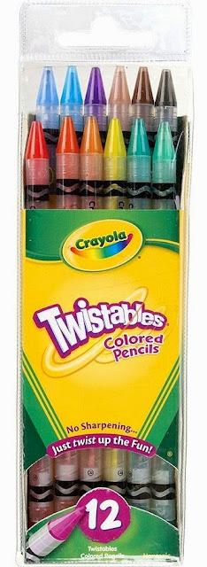 Bộ 12 bút chì màu Twistable Colored Pencils cung cấp những màu sắc tươi sáng nhất